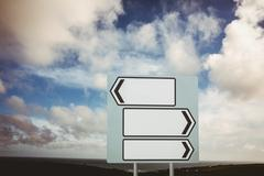 Stock Illustration of Signpost arrows with copy space
