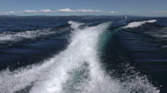 Boat Wake, Lake Taupo, New Zealand - stock footage