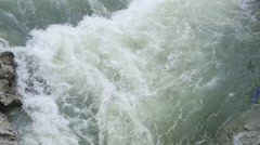 Large waterfall crashes spectacular super slow motion Stock Footage