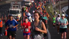 Auckland Marathon 2013 - Slow motion Stock Footage