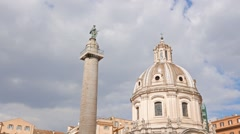Colonna Traiana, Forum Traiano, Roma, Italy. 1280x720 Stock Footage