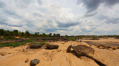 Unseen Thailand grand canyon sam pan bok at ubonratchathani Stock Footage