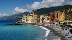 Camogli in Italy, Liguria Stock Footage