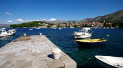 The town Cavtat in southern Croatia Stock Footage