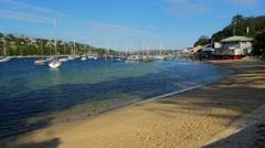 Beach near Spit Bridge, Sydney in 4k Stock Footage