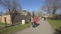 Kalemegdan Park in Belgrade Stock Footage