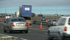 Auckland Motorway Traffic Stock Footage