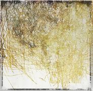 Scratched sepia abstract background - stock illustration