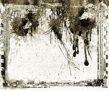 Grunge dripping film strip frame Stock Illustration