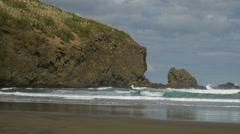 Bethells Beach, Waitakere, New Zealand Stock Footage