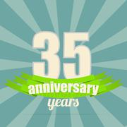 Stock Illustration of Anniversary emblem