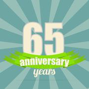 Anniversary emblem - stock illustration
