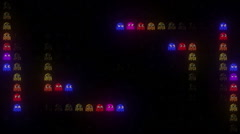 Arcade LED In the DarkHD Stock Footage
