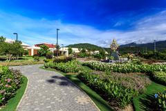 Ho Kham Luang - Royal Flora Ratchaphruek at sunny morning Stock Photos