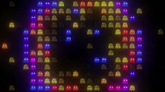 Arcade LED Exploding GhostsHD Stock Footage