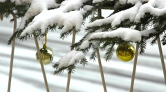 Christmas decoration in the garden Stock Footage