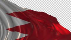 Flag of Bahrain Stock Footage