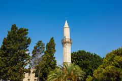 Djami Kebir Mosque (Buyuk Cami, Cami Kebir) in Larnaca, southern Cyprus. Buil - stock photo