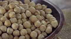 Chick Peas (not seamless loopable) Stock Footage