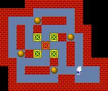 Crates, retro style game pixelated graphics - stock illustration