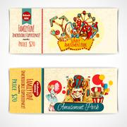 Amusement Park Tickets - stock illustration