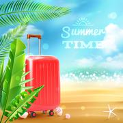 Travel Suitcase Background - stock illustration