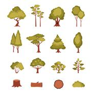 Stock Illustration of Forest Elements Set