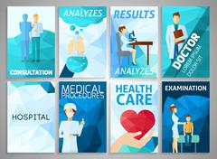 Flyer Medicine Set - stock illustration