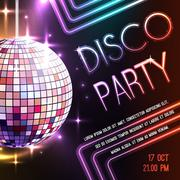 Disco Party Poster Piirros
