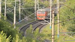 Electric ED4M (train) station Ufa. Russian Railways Stock Footage