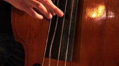 Symphony Orchestra. Contrabass. - stock footage