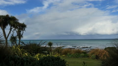 New Zealand Catlins Kaka Point from back yard lookout Stock Footage
