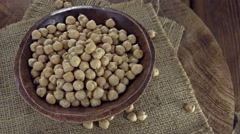 Portion of Chick Peas (not loopable) Stock Footage