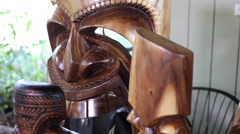 Hawaii Tiki Carving Mask - stock footage