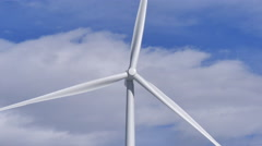 4k close up shot of Wind Turbine blades Stock Footage