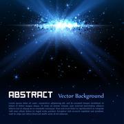 Blue spotlight background Stock Illustration
