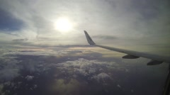 Plain view of clouds and sunny sky at morning - stock footage