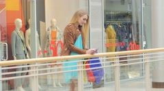 Unexpected meeting friends for shopping,  girls are very happy to see each other Stock Footage