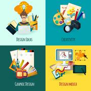 Designer Concept Set Stock Illustration