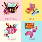 Stock Illustration of Cosmetics Icons Set