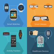 Wearable Technology Set - stock illustration