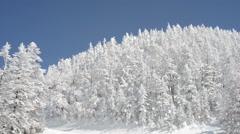 Snowy mountain, Location: Nagano Stock Footage