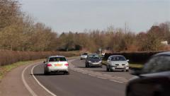 Cars, Vans, Lorries and Traffic on Busy Road - Transportation Backgrounds Stock Footage