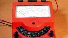 Multimeter Electric Voltage Meter Stock Footage
