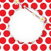Flora Daisyl Design Vector Illustartion Stock Illustration