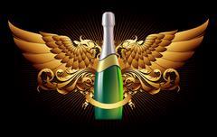 champagne - stock illustration