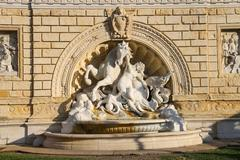 Fountain in the park Montagnola (Parco della Montagnolla) in the city of Bolo Stock Photos