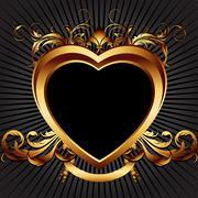 Stock Illustration of heart frame