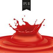 Splash of red fruit vector - stock illustration