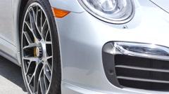 Porsche racing wheel Stock Footage